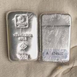 5x100 g stříbrný slitek...
