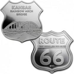 1 oz ROUTE 66 Kansas...