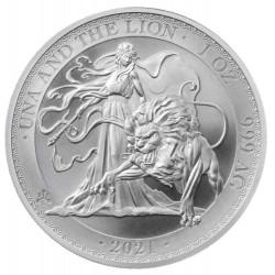 1 oz Una and the Lion 2021 BU