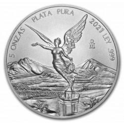 5 oz Mexiko Libertad 2021 BU