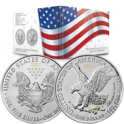 Set 2 x 1 oz American Eagle...