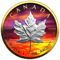 1 oz Maple Leaf Západ...