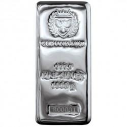 Silver cast bar 1kg...