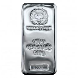 stříbrný slitek 500g...