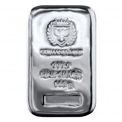Silver cast bar 100g...