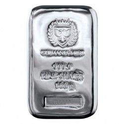 stříbrný slitek 100g...