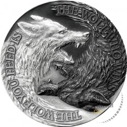 silver coin 1 oz Two Wolves...