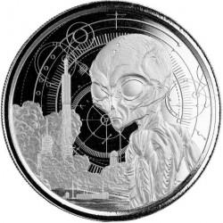 stříbrná mince 1 oz Alien...