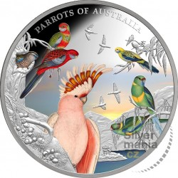 silver coin 5 oz Parrots of...