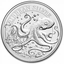 1 oz Octopus Barbados 2021 BU