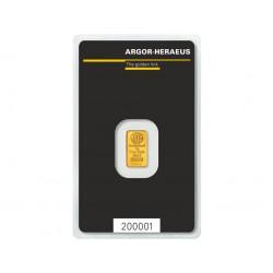gold bar 1g Argor Heraeus