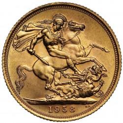 zlatá mince Sovereign 1958...