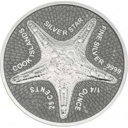 silver coin 1/4 oz Starfish...