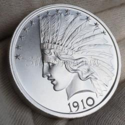 2 oz USA Indian Head 1910