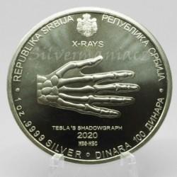 1 oz Nicola Tesla X-Rays...