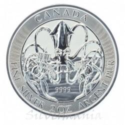 2 oz Canada Kraken stříbrná...