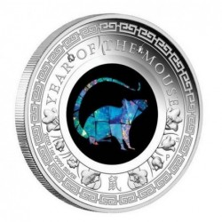 1 oz Lunar Mouse 2020 Opal PROOF